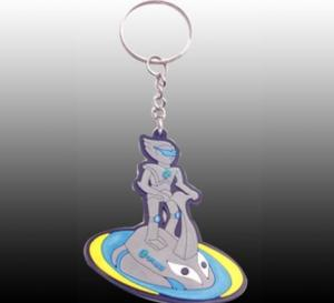 China customized logo embossed OEM silicone rubber soft PVC keychain with colorful on sale