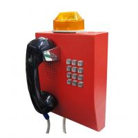 IP65 Weather Resistant Telephone With Flashing Lamp , Anti Vandal Tunnel Telephone