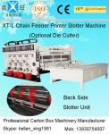 Imprimante ondulée semi automatique de Flexo de carton de couleur de la machine 4 de fabrication de cartons