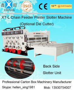 China Semi Automatic Corrugated Box Making Machine 4 Color Carton Flexo Printer on sale