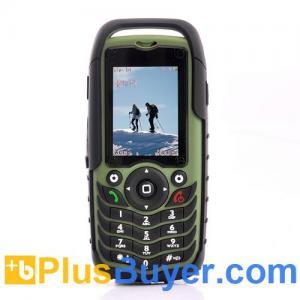 China Fortis - Rugged Dual SIM Mobile Phone - Green (Shockproof, Dustproof, Waterproof) on sale