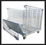Silvery Metal Mesh Storage Containers , Q235 Steel Heavy Duty Storage Cages