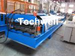 Steel Metal Wall Cladding Roof Roll Forming Machine With PLC Control System