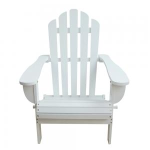 China White Soild Wooden Outdoor Furniture Beach Lounge ChairsFor Balcony Lights on sale
