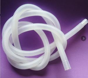 China Nontoxic Transparent Corrugated Flexible Tubing EVA / PE Medical Hose Type on sale