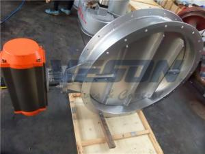 China 304 SS Presentation Dampers Pneumatic Butterfly Valve Presenting Double Flange Damper on sale