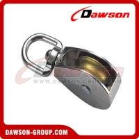 DAWSON Die Cast Zinc Single Wheel Pulley with Swivel Eye  from China Manufacturer