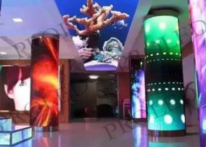 China Customized Flexible Led Screen , Cylinder Advertising Flexible Led Wall on sale