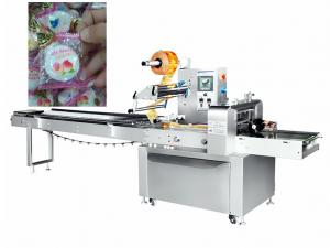 China Cotton Candy Pillow Wrapping Packing Machine Multifunctional 50Hz 3 Phase on sale