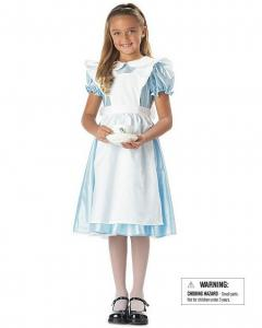 China Alice in Wonderland Girls Child Costume wholesale includes Blue dress and apron in White on sale