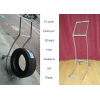 China Aluminum Alloy Wheel Display Racks , Hub Trolly Car Wheel Display Stand on sale