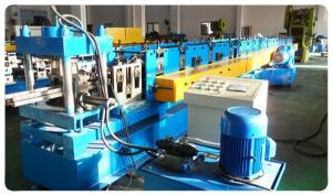 China Supermarket Upright Shelve Rack Roll Forming Equipment With Cr12 Mould Steel Rollers on sale