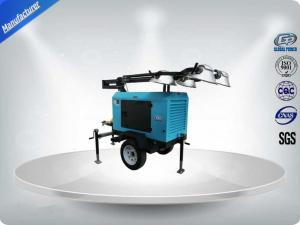 China Contruction Emergency Portable 6-7kw 50Hz Mobile Light Tower , Trailer Mounted Light Towers Water Cooled on sale