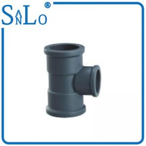 China Deep Gray Black Reducing Elbow Tee Pipe Fitting Highway Drainage Supply 40 Mm 50 Mm on sale