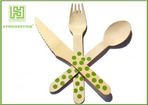 China Packing Airline Disposable Wooden Eco Friendly Cutlery Set For Birthday Cake on sale