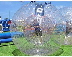 China 150kg Load Inflatable Zorb Ball , Inflatable Zorb Human Hamster Ball High Safety on sale