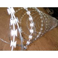 BTO-22 Hot Dipped Galvanized Razor Barbed Wire For Wire Mesh Fence 450mm 500mm With Clip