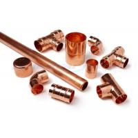 3 Way Cross Coupling Straight Tap Connector , 1/4 Inch Copper End Feed Fittings