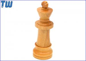 China Maple Wood 16GB USB Flash Disk Smooth Finished Chess Winner King on sale