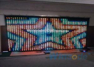 China RGB Tri Color P5 Led Curtain Wall 7 Chs , Fiber Optic Curtain For Dance Halls on sale
