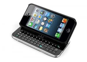 China Slide - Out QWERTY iPhone 5 Keyboard Case With Chargeable By Micro - USB Cable on sale