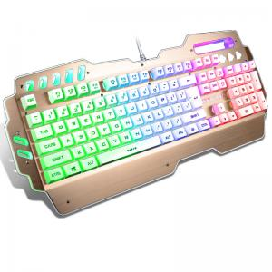 China High Performance USB Programmable Mechanical Keyboard With Rainbow Backlight on sale