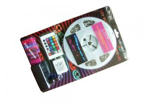 China SMD 5050 RGB LED Tape Light Kit , Color Changing Led Light Strips Blistered Packing on sale