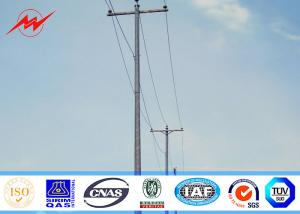 China 3mm 45ft Q345 Galvanized Steel Pole , Customized Electric Power Pole For Aboard on sale