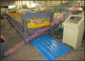 China IT5 Roofing Corrugated Sheet Roll Forming Machine with Five Industrial Trough on sale
