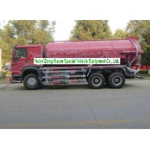 China Sinotruk Howo 18000L Sewage Suction Truck With Vacuum Pump 10 Wheeler on sale