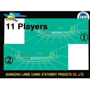 China 11 Players Baccarat Layout Casino Poker Table Cloth Poker Felt Table Cover on sale