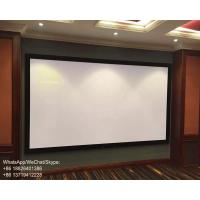 China Top 8K Sound Transparent Projector Screen Fixed Frame Home Theater 120 inch on sale