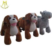 Hansel wholesale motorized plush riding animals coin operated children rides