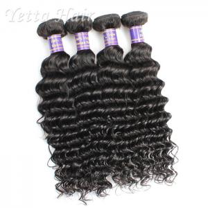China Customized 7A European Weft Hair Extensions  Deep Wave No Chemical on sale