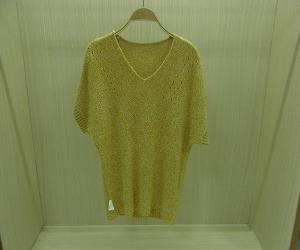 China Yellow Printed Womens Pullover Sweaters Poncho Pullover Knitted Girl's Top on sale