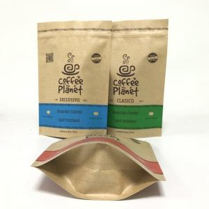 China Smell Proof CMYK 120gsm Kraft Paper Foil Bags Resealable Zipper on sale