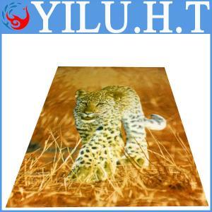 China new and popular price tan leopard print pattern 100% polyester polar fleece/anti pilling polar fleece fabric on sale