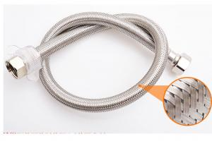 China Flat Stainless Steel Braided Sleeving Flame Resistance For Hose Protection on sale