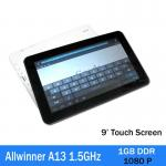 tela capacitiva 1080p do PC da tabuleta do Touchpad de 3g Allwinner A13 1.5ghz