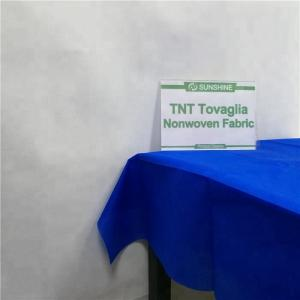 China tnt non woven fabric biodegradable disposable pre-cut non woven table cloth on sale