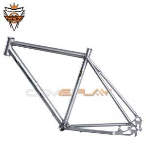 China Wide Tire Road Titanium Bike Frame Hand Brush Ti3AL2.5V Ti6Al4V Material on sale