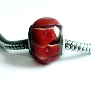 China Big Hole Lampwork Glass Bead PG012 on sale