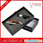 China 2piece/set Fashion Stainless Steel Wine Beer Bottle Opener Gift Box Packaging wholesale