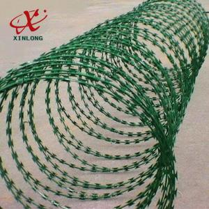 China Galvanized CBT-65 BTO-22 Razor Barbed Wire High Security Barbed Wire on sale