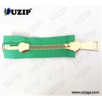 China No.15 Metal Gold Euro Teeth Zipper with Double Slider on sale