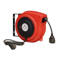Impact Resistant Polypropylene Electric Cable Reel With Over Load Breaker Red