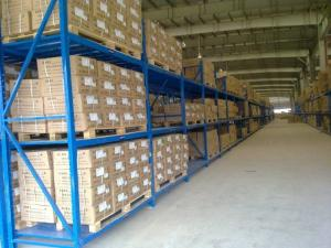 China Three levels pallet stock steel heavy duty shelving racks for industrial storage on sale