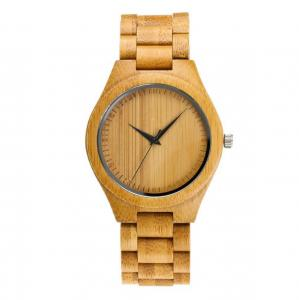 China 2019 Eco-friendly Wood Quartz Wooden Watches Men With bamboo watch box on sale