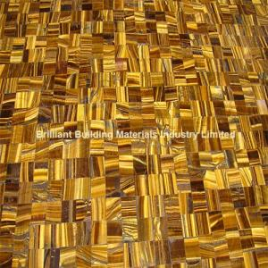 China Yellow Tiger Eyes Semiprecious stone Crossing Patchwork on sale