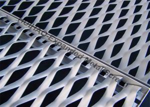China 1200X2400MM Aluminum Expanded Metal Screen , Building Facade Expanded Metal Mesh on sale